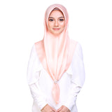 MUMU BAWAL SATIN IN PEACH TART