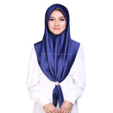 MUMU BAWAL SATIN IN MIDNIGHT BLUE