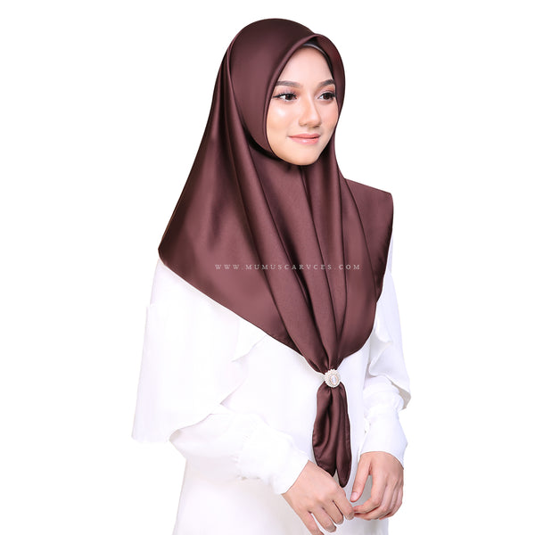 MUMU BAWAL SATIN IN FAMOUS BROWN