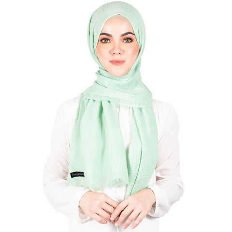 mUMu Arabic Shawl in Mint Green