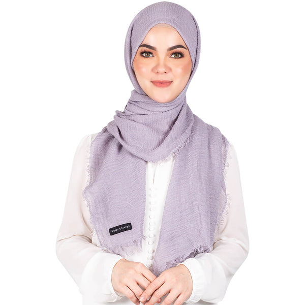 mUMu Arabic Shawl in Light Grey