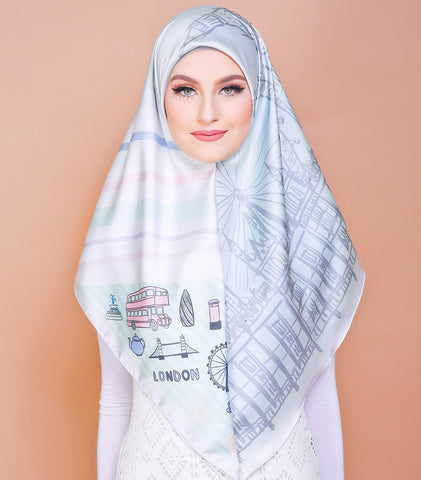 London Series (Square Scarf) - Adorable Mint