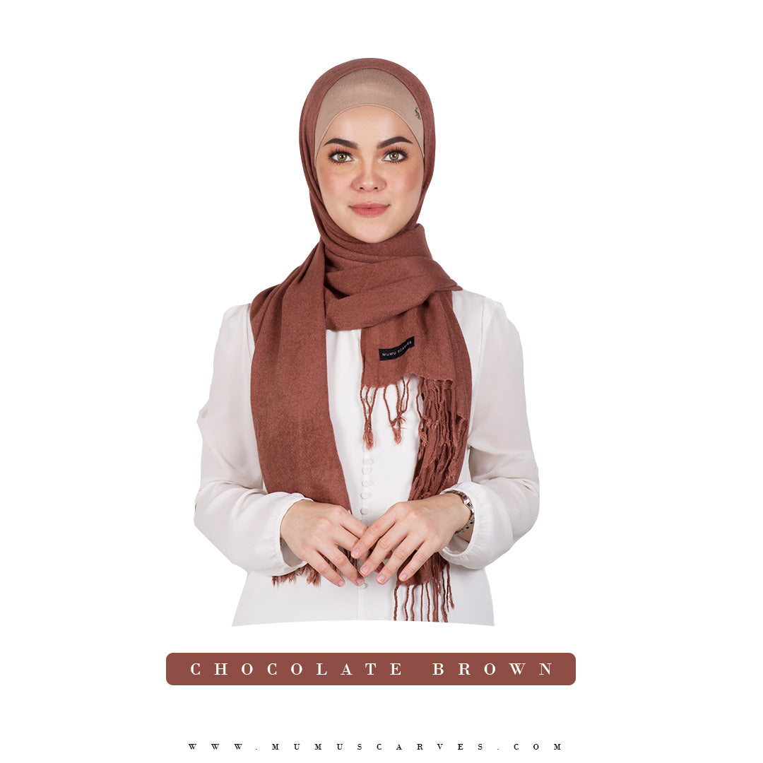 mUMu Pashmina Shawl - Chocolate Brown