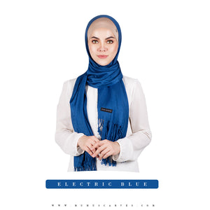 mUMu Pashmina Shawl - Electric Blue
