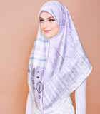 London Series (Square Scarf) - Lovely Lilac