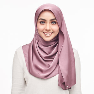 mUMu Premium Matte Satin Shawl -  Plum Purple