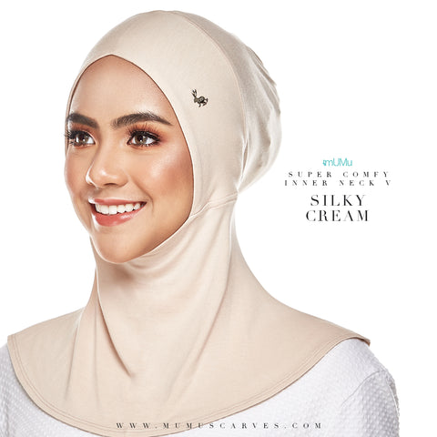 Super Comfy Inner Neck V - Silky Cream