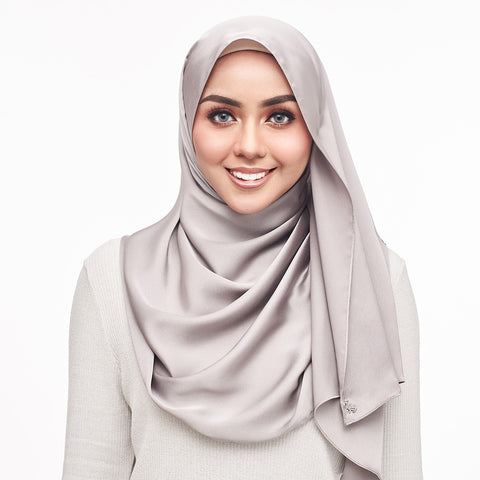 mUMu Premium Matte Satin Shawl -  Steele Grey