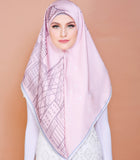 London Series (Square Scarf) - Candy Pink (Diamond Embellished)