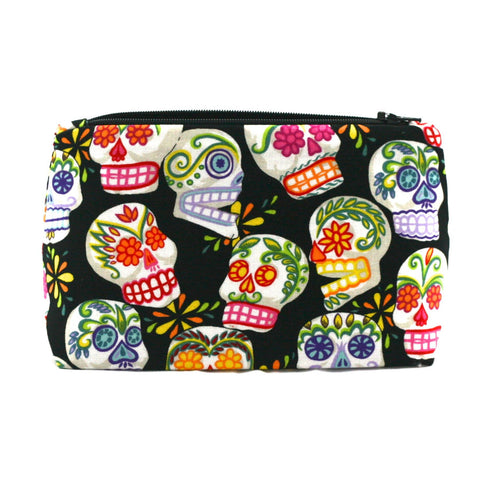 Black Sugar Skulls Makeup Bag
