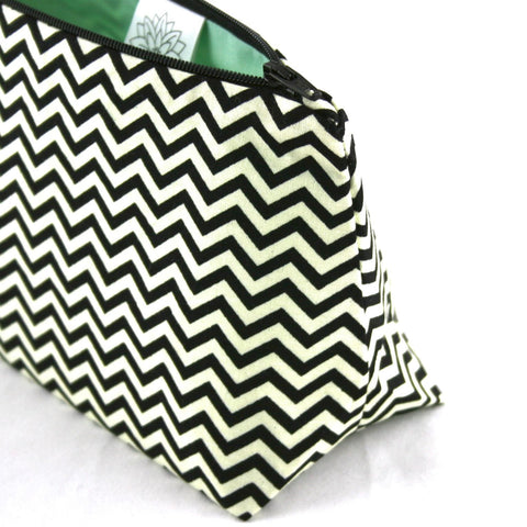 Black Chevron Cosmetic Bag