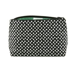 Black and White Hearts Makeup Bag