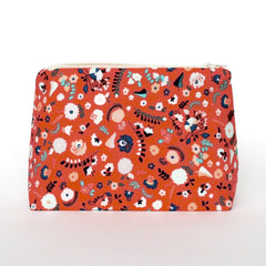 European Folk Floral Cosmetic Bag