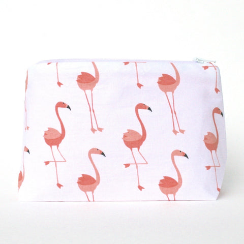 Pink Flamingo Makeup Bag