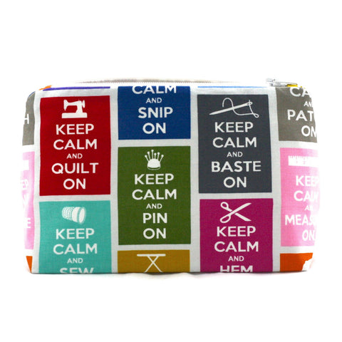 Keep Calm and Sew On Accessories Bag