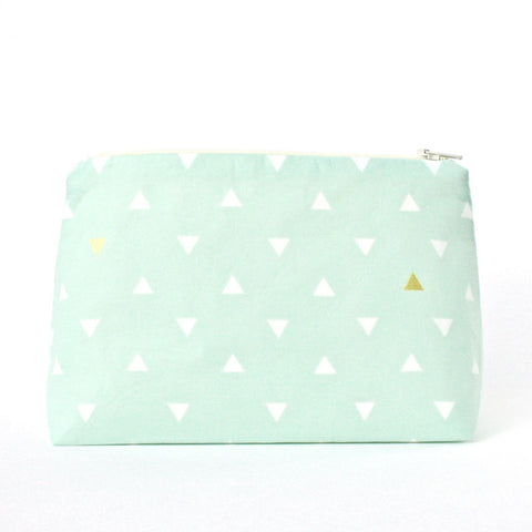 Mint Green & Metallic Gold Arrowhead Token Bag