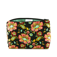 Ornate Oriental Lotus Makeup Bag