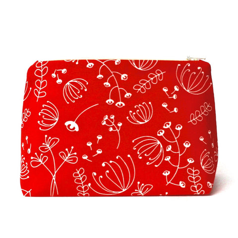 Poppy Red Flowers Cosmetic Bag