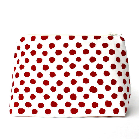 Red Dalmatian Dot Makeup Bag