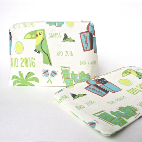 Rio Olympics Souvenir Gift Set: Makeup Bag & Clutch