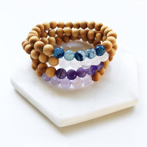 Aromatic Sandalwood & Gemstone Bracelets