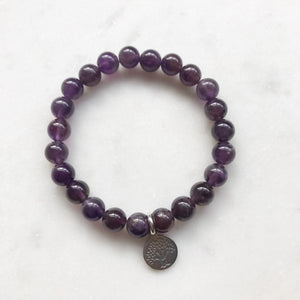 Amethyst Bracelet with Tree of Life Charm