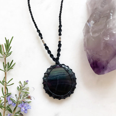 Fluorite Macramè Necklace