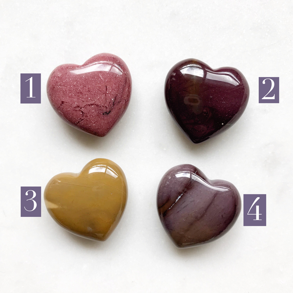 Mini Mookaite Hearts