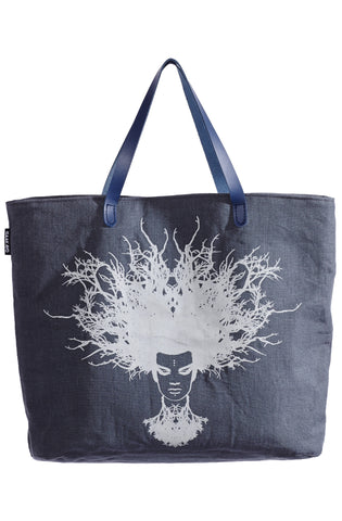 Tree-Fro. Printed Hemp Shopper