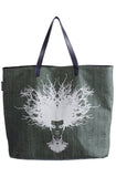 Tree-Fro. Printed Denim Shopper