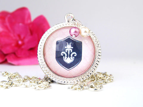 Royal Crest Round Pendant Necklace