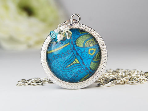 Seaflower Round Pendant Necklace