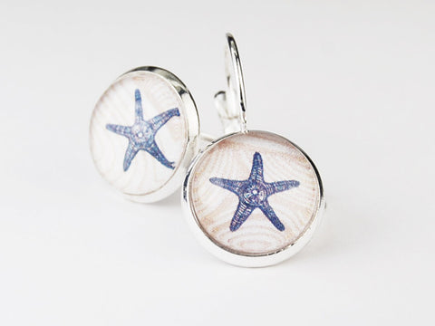 Starfish Round Earrings