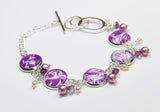 Purple Tendrils Bracelet