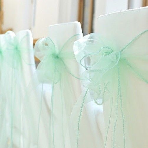 Mint Green Organza Chair Sashes Table Runners