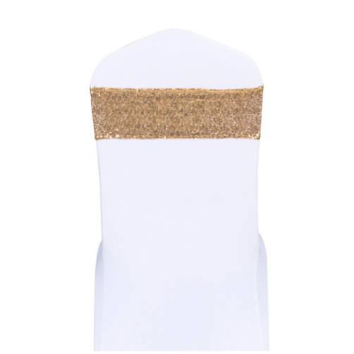 Sequin Glitter Chair Bands - Gold