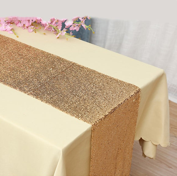 Gold Sequin Glitter Table Runners