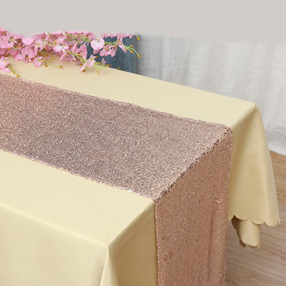 Rose Gold Sequin Glitter Table Runners