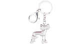 Couture Chinese Crested Key Chain Blue
