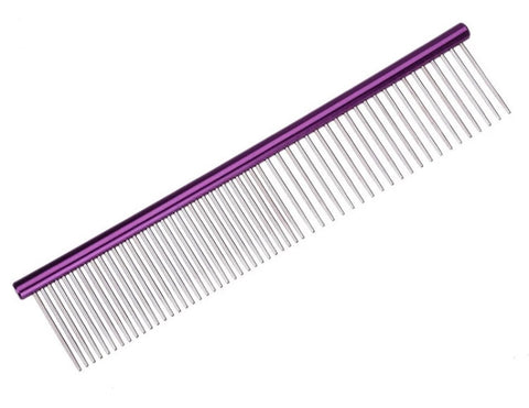Purple Stainless Steel Comb