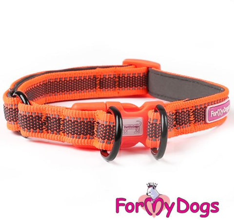 Retroreflective Original Orange Double Ring Collar