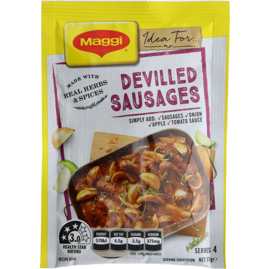 Devilled Sausages Recipe Base