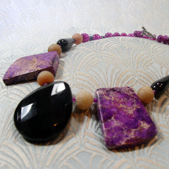unique semi-precious jewellery necklace handmade uk