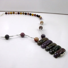 handmade mookaite necklaces with a pendant
