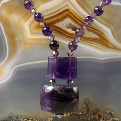 deep purple amethyst statement necklace uk