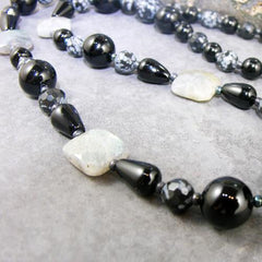 gemstone bead detail for gemstone jewellery statement necklace