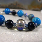 blue statement jewellery, gemstone jewellery bracelet