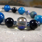 statement jewellery bracelet unique gemstone jewellery bracelet blue agate