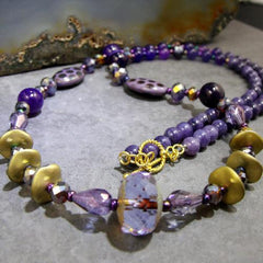 purple crystal necklace uk