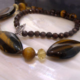 new tigers eye crystal necklace uk